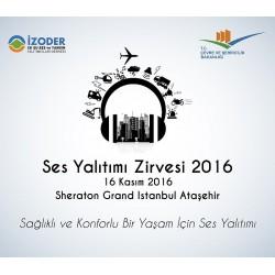 Türkiye'de ilk kez yapılacak 'Ses Yalıtımı Zirvesi'ni, Çevre ve Şehircilik Bakanlığı'nın desteği ve BASF, BETEK, İZOCAM, RAVABER, HİS YALITIM, ERYAP markalarının sponsorluğunda gerçekleştiriyor