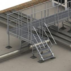 Çatı üzerinde kurulacak kedi yolu, panyol yada duvar geçişleri için hazır montaj kitleri mevcuttur.