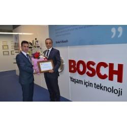 Bosch Termoteknik'e Maliye Bakanlığı tarafından teşekkür belgesi verildi.