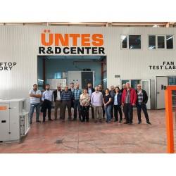 Üntes 'in Ankara Kahramankazan ve Saray'daki fabrikalarını ziyaret eden proje firmaları yetkilileri