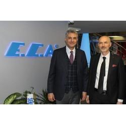 Elginkan Holding Yönetim Kurulu Başkan Yardımcısı ve Emas Makina Sanayi A.Ş. Genel Müdürü Mehmet Özokumuşoğlu ve Pramid Isı Sistemleri Firma Sahibi Rahmi Toy
