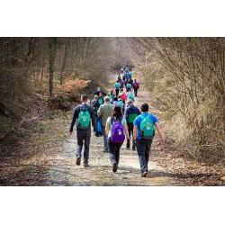 Katılımcılar, Balkaya Köyü bölgesinin muhteşem manzarasının eşliğinde iki saat süren bir doğa yürüyüşü gerçekleştirdi.