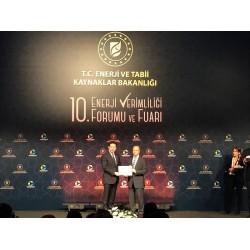 Arçelik'e Enerji ve Tabii Kaynaklar Bakanlığı'ndan Başarı Ödülü verildi