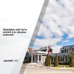 Diyarbakır Adli Tıp Grup Başkanlığı Binası'nın havalandırmasında ALDAĞ A.Ş.