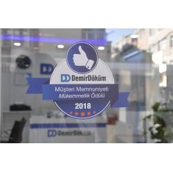 Tüketiciler, kusursuz müşteri deneyimi sunan DemirDöküm mağazalarını girişte yer alan ödül logolarından tanıyabilecek.