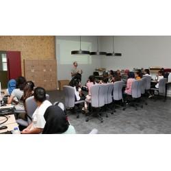 33 öğrenci kodlama ve arduino eğitimlerine katılım sağladı.