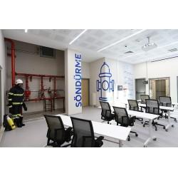 24 kişilik kapasiteye sahip olan Siemens Yangın Simülasyon ve Eğitim Odası