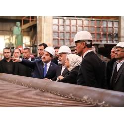 Sanayi ve Teknoloji Bakanı Mustafa Varank'ın MİMSAN Fabrikası ziyareti