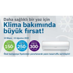 Bosch Termoteknik, indirimli klima bakım kampanyası ile kullanıcıların yaz aylarını daha tasarruflu geçirmelerini sağlıyor.