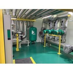 Wilo IL, IPL, IL-E, IP-E sirkülasyon pompaları, yüksek verimliliğe sahip kullanma suyu hidroforunda Helix V pompası, atık su çözümlerinde ise parçalayıcı bıçaklı dalgıç pompa MTH serisi kullanılıyor.