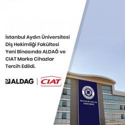 İstanbul Aydın Üniversitesi Diş Hekimliği Fakültesi Yeni Binasında ALDAĞ ve CIAT Marka Cihazlar Tercih Edildi.
