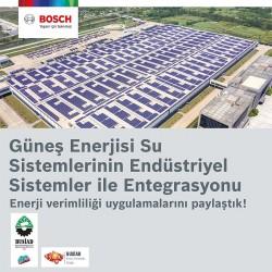 """Bosch Termoteknoloji ve BUSİAD iş birliğiyle """"Güneş Enerjisi Su Sistemlerinin Endüstriyel Sistemler ile Entegrasyonu Semineri"""""""