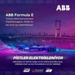 """ABB Formula E /Türkiye Dijital Şampiyonası tanıtım yarışı 9 Eylül """"Dünya Elektrikli Araç Günü'nde"""" start alacak."""