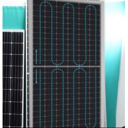 Yarım kesim solar panel akım akış yönü