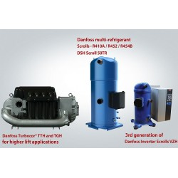Danfoss, yeni ve gelişmiş kompresör yelpazesi ile kısmi yük verimliliği ve soğutucu değişimi baskısını hafifletiyor.